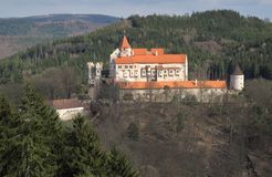 Gothic castle Pernstejn Royalty Free Stock Photos