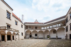 Gothic castle in Telc, Czech Republic. Telc, Czech Republic. Unesco city, Old XVI century castle build in gothic style Royalty Free Stock Photo