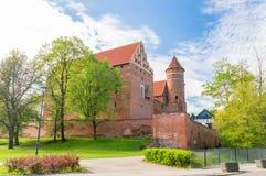 Gothic castle of Warmian Bishops in Olsztyn. Gothic castle of Warmian Bishops in Olsztyn, Poland Stock Image