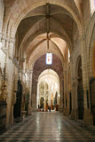 Gothic cathedral. Murcia cathedral interior. Beautiful gothic architecture Royalty Free Stock Photos