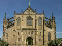 Gothic cathedral. Elevation, Kutna Hora, Czechs stock photo
