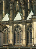 Gothic cathedral. Windows royalty free stock image