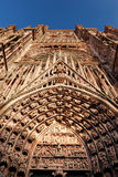 Gothic cathedral. Old gothic cathedral in france stock photos
