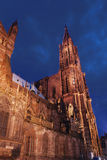 Gothic cathedral. In france at night royalty free stock images