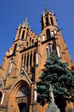 Gothic Cathedral 2. The Rynek Kosciuszki Gothic Cathedral - Bialystok, Poland Stock Image