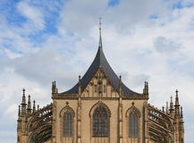 Gothic cathedral. Details gothic architecture of cathedral st. Barbara from Kutna Hora - Czech Stock Photo