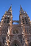 Gothic cathedral. Cathedral of Lujan, Argentina stock photos