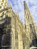 Gothic cathedral. Detailed architecture of Stephansdom cathedral in Vienna, Austria Royalty Free Stock Photography