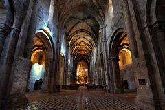Gothic cathedral. Cistercian gothic style cathedral at Veruela Monastery, Aragon Royalty Free Stock Image