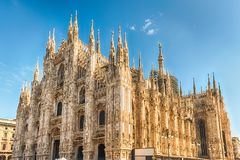 The gothic Milan Cathedral, aka Duomo di Milano, Italy Royalty Free Stock Photos