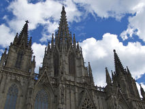 Gothic Cathedral Barcelona Royalty Free Stock Photos