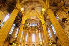 Gothic cathedral, Barcelona-Spain Royalty Free Stock Photos