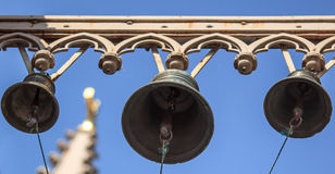 Gothic cathedral bells ring. Royalty Free Stock Image