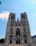 Gothic Cathedral in Brussels, Belgium. Royalty Free Stock Photos