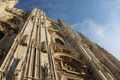 Gothic Cathedral called Duomo in Milan in Northern Italy Royalty Free Stock Photos