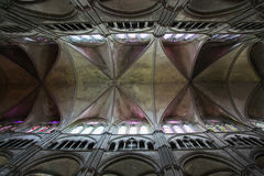 Gothic Cathedral Ceiling. Ceiling of a Gothic cathedral in Blois, France Royalty Free Stock Images
