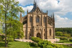 Gothic cathedral, church of Saint Barbara in Kutna Hora Stock Photos