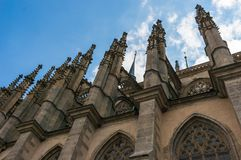 Gothic cathedral, church of Saint Barbara in Kutna Hora Stock Image