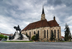 Gothic Cathedral in Cluj, Transylvania, Romania Royalty Free Stock Images