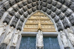 Gothic cathedral in Cologne Royalty Free Stock Photo