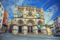 Gothic cathedral of Cuenca in Spain Royalty Free Stock Photos
