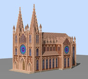 The Gothic Cathedral. 3D model Stock Images