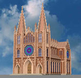 The Gothic Cathedral. 3D model Stock Image