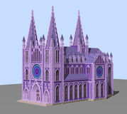The Gothic Cathedral. 3D model Royalty Free Stock Photo