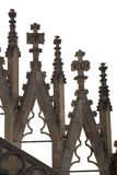 Gothic cathedral details. Ornaments of a gothic cathedral, isolated on white Royalty Free Stock Photography