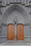 Gothic cathedral door Royalty Free Stock Image