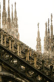 Gothic cathedral Duomo Royalty Free Stock Images
