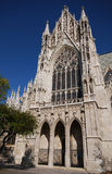 Gothic cathedral entrance Stock Photos