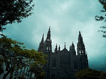 Gothic cathedral of Gran Canaria royalty free stock photos