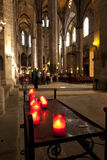 Gothic cathedral interior Stock Photo