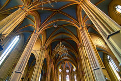 Gothic Cathedral Interior Architecture Royalty Free Stock Photos