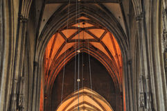 Gothic cathedral interior Royalty Free Stock Photo