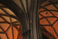 Gothic cathedral interior Stock Photography