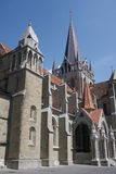 Gothic cathedral in Lausanne royalty free stock photos