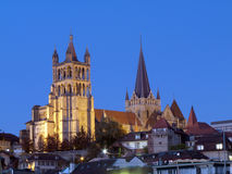 Gothic Cathedral, Lausanne, Switzerland Royalty Free Stock Photography