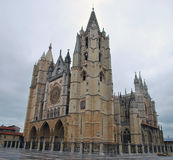 Gothic cathedral in Leon Stock Image