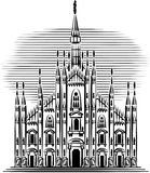 Gothic cathedral of Milan. Stock Photography