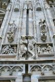 The gothic cathedral of Milan Stock Images