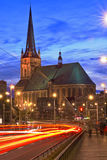 Gothic cathedral at night Royalty Free Stock Image
