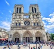 Gothic Cathedral Notre-Dame de Paris, France Stock Images