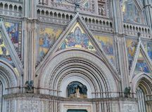 The gothic cathedral of Orvieto in Italy Stock Photos