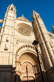 Gothic cathedral in Palma de Mallorca. Catedral de Mallorca, Gothic cathedral in Palma de Mallorca. Majorca, Balearic Islands, Spain Royalty Free Stock Photo