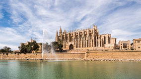 Gothic cathedral in Palma de Mallorca Royalty Free Stock Photos