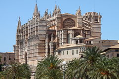 Gothic cathedral of Palma de Mallorca. Spain Royalty Free Stock Photography