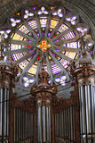 Gothic cathedral with pipe organ Royalty Free Stock Photography