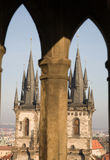 Gothic cathedral in Prague royalty free stock photography